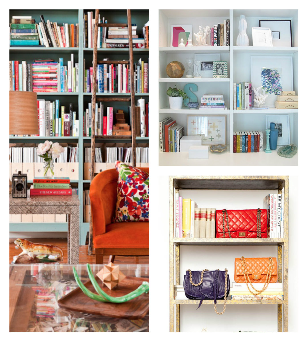 Inspirations for a stylish bookcase-to-be