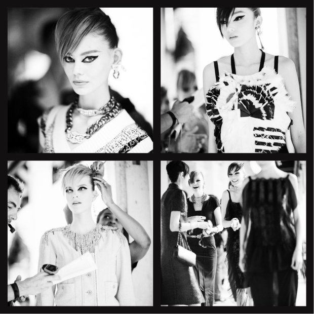 Backstage images at Chanel Cruise Show 2013 by Andrew Miller