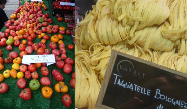 Fresh produce shot at Hollywood Farmers Market LA and Eataly NYC - swoon...