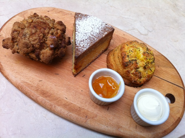 Breakfast board at Locanda Verde