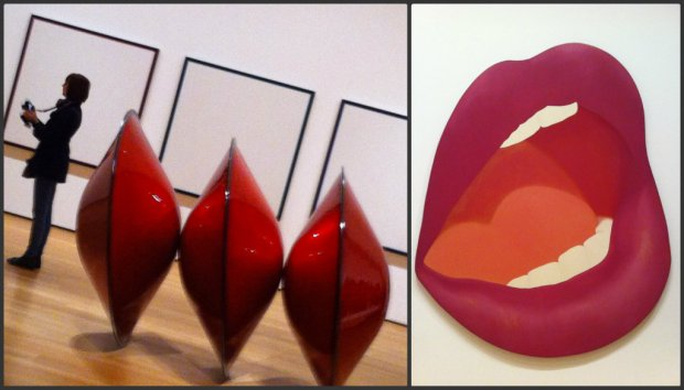 Fab modern art at MoMa including Mouth 7 by Tom Wesselman