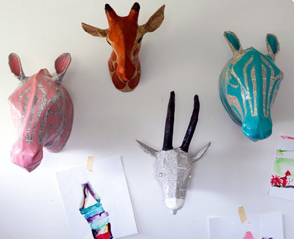 Dwell Studio Papier Mache heads from Kido Store