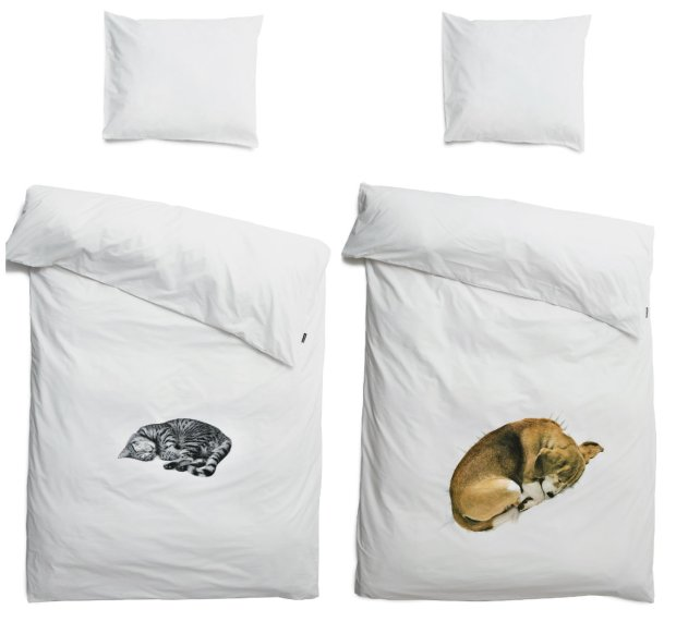 "Snurk ""Cat"" and ""Dog"" bedlinen"