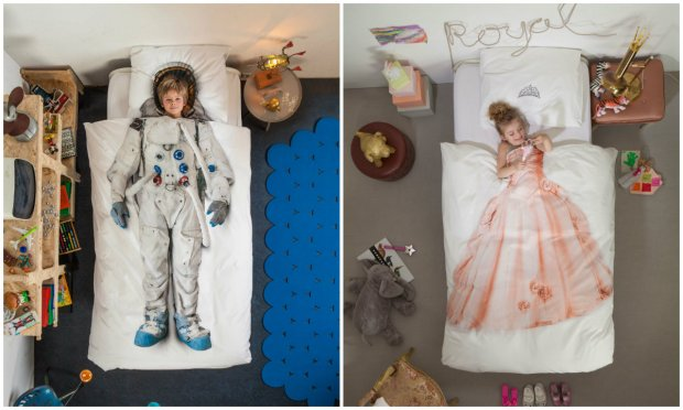 "Snurk bedlinen ""Astronaut"" and ""Princess"""