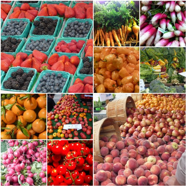 I took these pics at Eataly in NYC and the wonderfully colourful West Hollywood Farmer's Market in LA.