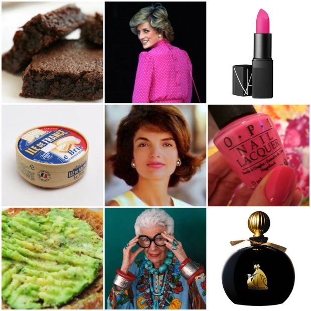 Food, fashionable icons and beauty essentials. All the big names, luxe nibbles and pink, pink, pink....