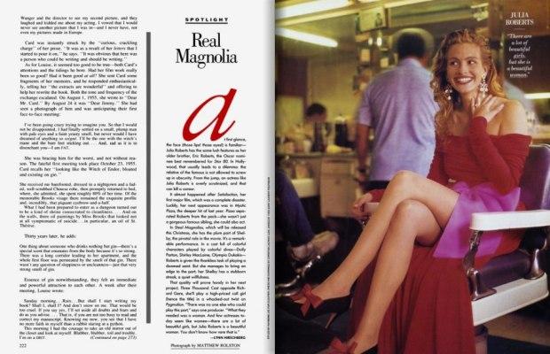 Pre-Pretty Woman - Julia Roberts aged 23, October 1989