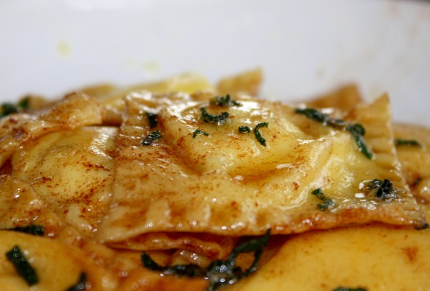 I dream of ricotta and mint ravioli with sage and burnt butter sauce